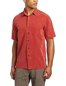 Royal Robbins Men's Desert Pucker Short Sleeve Shirt, Brick, Small