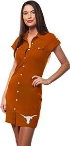 Texas Longhorns Ladies TX Orange Shirtdress by Chicka-D