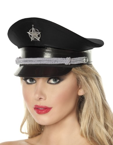 Mystery House Deluxe Cop Hat, Black, One Size