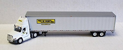 JB HUNT FREIGHTLINER CASCADIA DAY CAB Trailer TONKIN 1/87 Diecast Truck HO Scale (Tonkin Trailers compare prices)