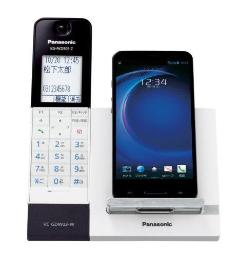 Panasonic デジタルコードレス電話機 RU・RU・RU 子機1台付き DECT準拠方式 Wi-Fi搭載 ホワイト VE-GDW03DL-W
