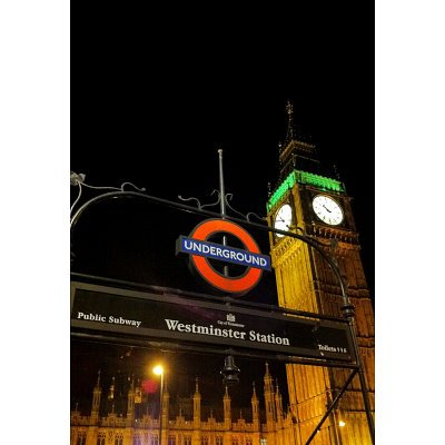 Westminster Station London Underground Art Print Poster - 11x17