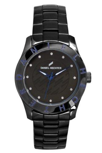 Daniel Hechter DHD 3AM - 004/Women's Watch Analogue Quartz Black Dial Steel Strap Black Plated