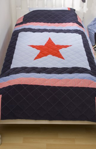 Snuggle Sac Navy Star Twin Bedspread