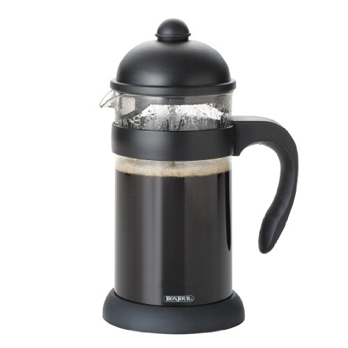 Bonjour Hugo 8-Cup Unbreakable French Press, Black