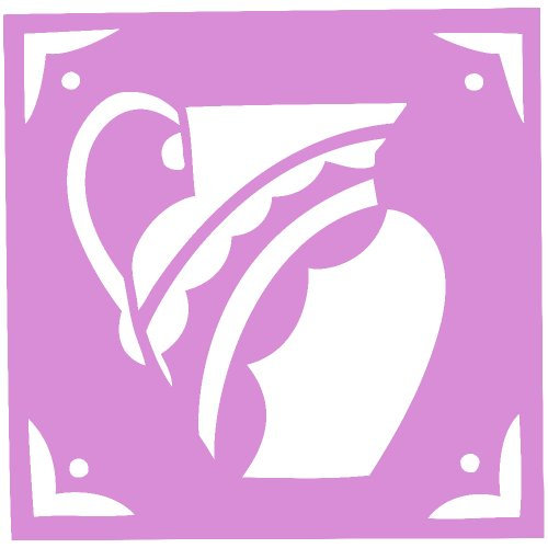 Cofee Tea Pot Kettle Decal Sticker (Pink, 5 Inch, Mirrored)