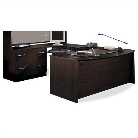 Bush Furniture Corsa Series Corner U-Shaped Desk in Mocha Cherry