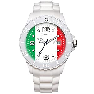 TIME100 Memorial National World Cup Classic Silicone Strap Italy Outdoor Sports Digital Watch #W40113M.04A