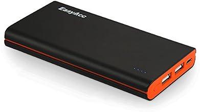EasyAcc Classico 10000mAh Caricabatterie Portatile Batteria Compatta Esterna per iPhone iPad Samsung Smartphone Tablets - Nero e Arancione