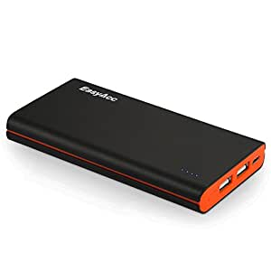 EasyAcc Classic 10000mAh External Battery Brilliant Power Bank Portable Charger for iPhone Samsung Smartphone Tablets Bluetooth Speaker  - Black and Orange