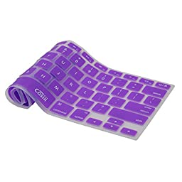 Casiii Macbook Pro Keyboard Cover Air Wireless Keyboard and iMac 13 15 and 17 Inch, With / Without Retina, Engineer-Quality Silicone (Purple)