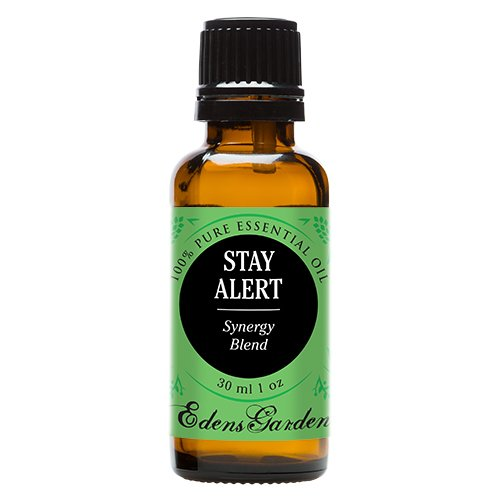 Stay Alert Synergy Blend Essential Oil by Edens Garden (Eucalyptus, Lavender, Peppermint and Pine)- 30 ml