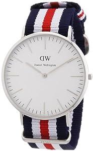 Daniel Wellington - Reloj analógico para caballero de nailon blanco por Daniel Wellington