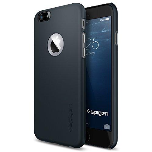 iPhone 6 ケース, Spigen® [ジャストフィット] Apple iphone 4.7 (2014) シン・フィットA ** アップルロゴのアクセント ** The New iPhone アイフォン6 (国内正規品) (メタル・スレート 【SGP10941】)