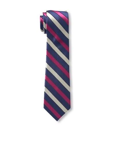 Ben Sherman Men's Stripe Tie, Navy/Pink