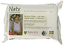 Naty Eco-Sensitive Baby Wipes with Aloe - Unscented - 56 ct
