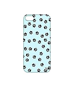 Vogueshell Dog Footprint Printed Symmetry PRO Series Hard Back Case for Apple iPhone 5