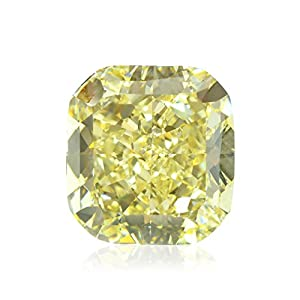 7.56Cts Fancy Yellow Loose Diamond Natural Color Cushion Cut GIA Certificate