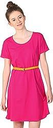 Unimod Women's Plain Dress (Pink, XL)