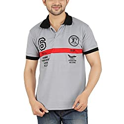 DKCLUES Men's Grey Color Half Sleeve T-Shirts
