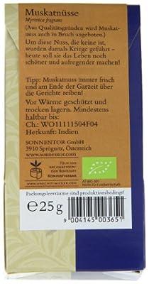 Sonnentor Muskatnüsse, 1er Pack (1 x 25 g) - Bio von Sonnentor auf Gewürze Shop