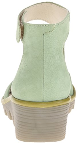 FLY London Women's Piat Wedge Pump, Pistachio/Light Green Cupido/Mousse, 36 EU/5.5-6 M US