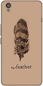 Snoogg Fig 3 Feather Designer Protective Back Case Cover For One Plus X / One...
