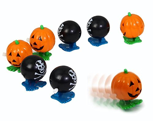 Dazzling Toys Wind-up Jumping Holiday Party Favor Toys 6 Pack