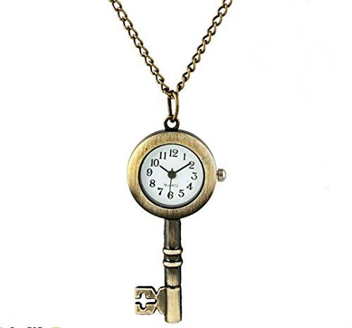 Retro Key Quartz Pocket Watch Keychain Pocket Watch