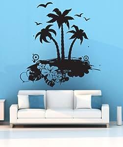 Stickerbrand Vinyl Wall Art Decal Sticker Tropical Island