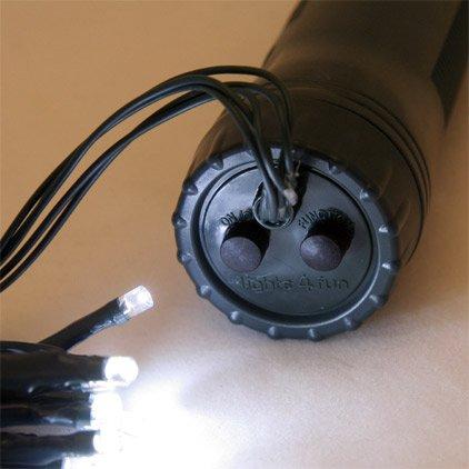 3 x 30er LED Lichterkette weiss, Außen, batteriebetrieben  Dauerbetrieb und 7 Blinkfunktionen möglich