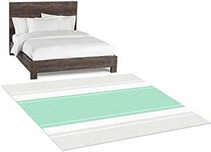Kids Room Rugs  Baby Boy Nursery  Mint And Grey Nursery  Bedside Rug  Stripe Rug  Mint Bedroom Decor