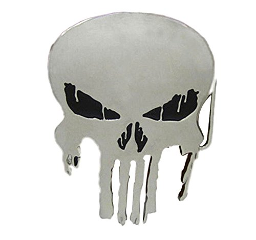 Yamimi punisher skull Solid Metal Cool Belt Buckle