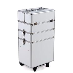 Songmics Beauty Professional Stylish Aluminium Cosmetics Case Beauty Trolley/Vanity Box JHZ01W