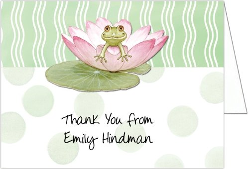 Lily Pad on Green Baby Thank You Cards - Set of 20