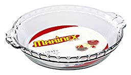 Marinex Glass Fluted Pie Dish, 9-Inch