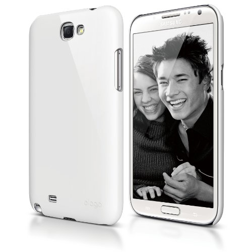 elago G6 Slim Fit Case for Galaxy Note 2 - eco friendly Retail Packaging - White (Note 2 Case White compare prices)