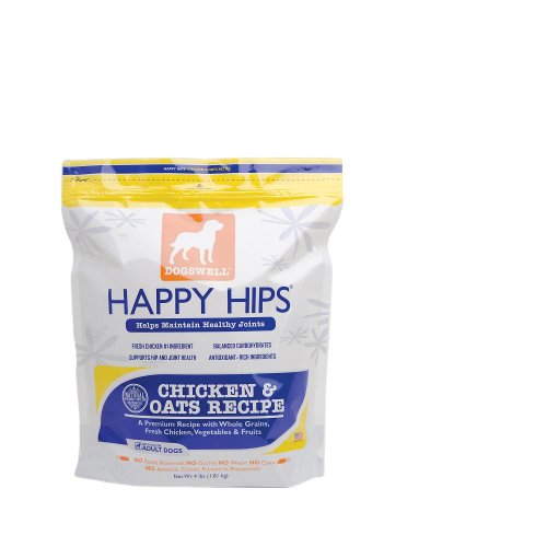 Dogswell Happy Hips for Dogs, Chicken & Oats Dry Dog Food, 4-Pound Bags (Pack of 2)