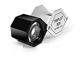 Grandindex Jewelry Loupe Magnifier Gm-30205a with 30x Magnification 20.5mm Lens,great Jewelry Loupe for Jeweller