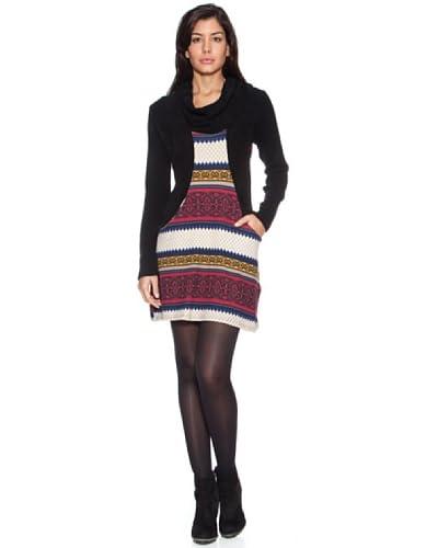 HHG Vestido Megan Negro / Multicolor