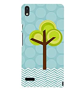 Blue Color Painting 3D Hard Polycarbonate Designer Back Case Cover for Huawei Ascend P6 :: Huawei P6 :: Huawei Ascend P6 Dual