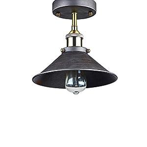 LES® YOBO Lighting Industrial Edison Filament Vintage Semi-Flush Mount 1-Light Ceiling Light from YOBO Lighting