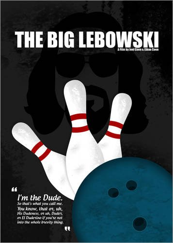 Poster 60 x 80 cm: The Big Lebowski - Minimal Movie Film Cult Alternative di HDMI2K - stampa artistica professionale, nuovo poster artistico