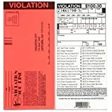 Set of 10-Fake Parking Tickets