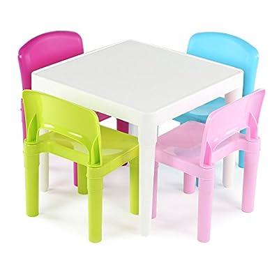 Tot Tutors Kid's Primary Table and 4-Chairs Set, Plastic by Tot Tutors