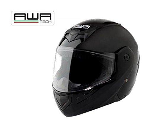 AWA modulable tech casque intégral taille s (noir brillant)