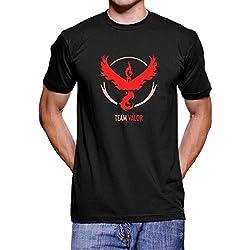 Pokemon Go Team Valor T Shirt (Black, XL)