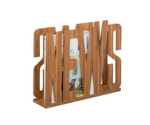 Zeller 13577 Porte-revue en bambou News 42 x 11 x 33 cm
