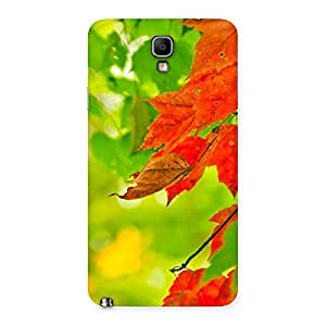 Enticing Leaf Multicolor Back Case Cover for Galaxy Note 3 Neo