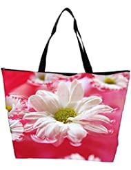 Snoogg Beautiful Flower In Nature Background Waterproof Bag Made Of High Strength Nylon - B01I1KGCG6
